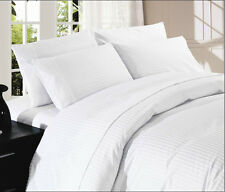 1000TC White Sheet Set Choose Sizes & Pattern 100%Cotton Deep Pocket Up to 24""