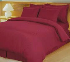 1000TC Sheet Set 100%Egyptian Cotton Stripe Burgundy Choose Size & Deep Pocket