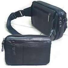 NEW Leather Fanny Waist Pack Messenger Shoulder Bag Passport Travel Bag