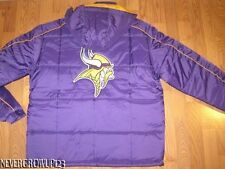 MINNESOTA VIKINGS MENS PURPLE WINTER JACKET~COAT~REMOVABLE HOOD~ADULT LARGE~NWT