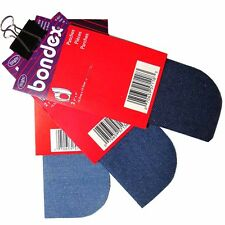 2pcs/pkg IRON-ON NO-SEW DENIM REPAIR PATCHES BONDEX SELECT COLOR