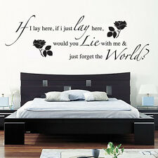 IF I LAY HERE SNOW PATROL Wall Art Sticker, Decal, MUSIC WORDS QUOTES STICKERS
