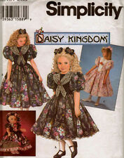 """S 9166/0694 Daisy Kingdom Dress Girl & 18"""" Doll Pattern 3-6 or 8-14New or 8 Comp"""
