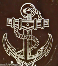 Nautical Boat Anchor Laser Etched Glasses- CHOOSE your glass style