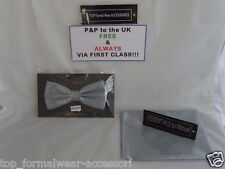 Pewter (Dark Silver Grey) Bow Tie and Hankie Set >More Sets U Buy >More $ U Save