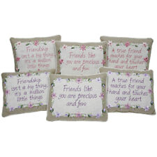 FRIENDSHIP SENTIMENT CUSHION LOVELY BIRTHDAY GIFT FOR THAT SPECIAL FRIEND NEW