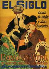 Exposition Fashion Lady Clothes El Siglo Vintage Poster Reproduction FREE S/H