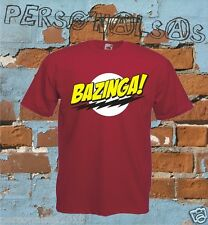T-SHIRT BAZINGA Sheldon Cooper Big Bang Theory T867