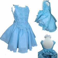 Baby Toddler Girl national Glitz Pageant ball Formal Dress size 2 4 6 Aqua Blue
