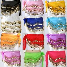 12 colors COINS BELLY DANCE HIP SCARF WRAP SKIRT  Waistband for KID children