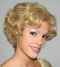 BETH WIG BLONDE BROWN BLACK HUMAN HAIR WOMAN SHORT WAVY CURLS CURLY WIG 2135