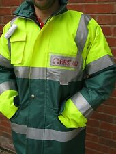 Ambulance Paramedic First Responder Hi Viz Jacket STAR OF LIFE & 2 Custom Badges