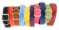 Auburn Leathercrafters QUALITY Leather Dog TUSCAN Collars 12 Colors 10 Sizes