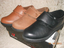 InStride Venice velcro closure orthopedic leather or suede blk/tan/ or brn suede