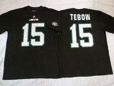4801 MENS NFL TEAM Apparel Jets TIM TEBOW Football Jersey Shirt BLACK New