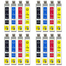 16 Ink Cartridges non-OEM to replace T0711 T0712 T0713 T0714 (T0715) Compatible