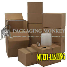 CARDBOARD BOX REMOVAL PACKING MOVING KITS *ALL SIZES*