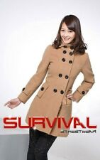 New Womens Winter Coat Designer Jacket with Hoodie Outerwear Tan Size 6 10 12