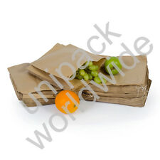 Brown Kraft Paper Food Bags Market Stall Bags ***Choose Size & Pack Quantity***