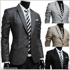 (RJK) THELEES Mens casual 2 button slim jacket blazer 4 COLOR
