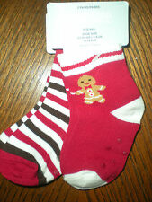 Gymboree NWT Baby BOY Gingerbread 2 Pack Sock