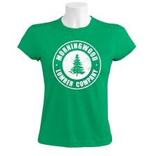Morning Wood Women T-Shirt Funny Rude Counselor Camp Summer Lumber White