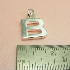 925 STERLING SILVER Filled SMOOTH Initial ALPHABET LETTER Charm PENDANT ~ A -Z ~