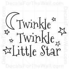 Twinkle Little Star Kid Nursery Wall Decal Vinyl Art Sticker Quote Decor B98
