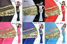 FL# Brand New 338 Gold Coin Belly dance Scarf Belt 10 Color