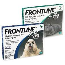Frontline PLUS 3 or 6 Month Flea and Tick Control for Dogs Or Cats