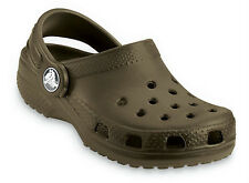 Crocs Toddlers Kids NEW Cayman Classic CHOCOLATE BROWN Clogs Sandals Water Shoes