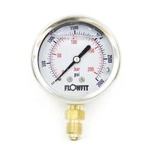 63mm Hydraulic Pressure Gauge Base Or Rear Entry Available-Free UK Delivery