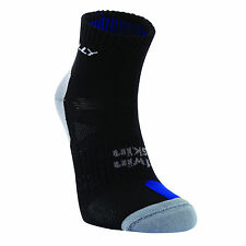Hilly Twin Skin Anklet Anti Blister Sports Running Socks - Black Grey Royal Blue