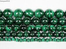 Natural Malachite Gemstone Round Beads 15.5'' Strand 4mm 6mm 8mm 10mm 12mm