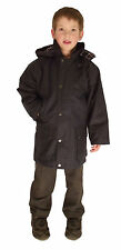 Campbell Cooper New Kids English Riding Wax Cotton Coat Jacket Navy Blue