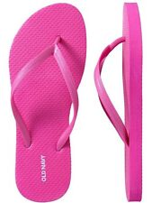 NWT Ladies FLIP FLOPS Old Navy Thong Sandals NEON PINK Shoes SIZE 7,8,9,10,11