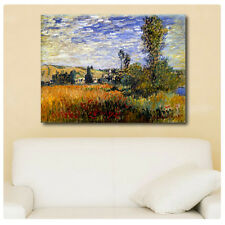 Huge! Claude Monet Landscape Vetheuil ALL SIZES CANVAS Print Poster GICLEE Art