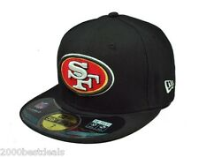 NEW ERA 59FIFTY CAP SAN FRANCISCO 49ERS BLACK NFL ON FIELD CUSTOM FITTED HAT