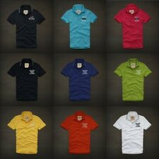 Hollister Mens Polo Shirt Logo 100% Cotton Multi Sizes/Colors by Abercrombie NWT