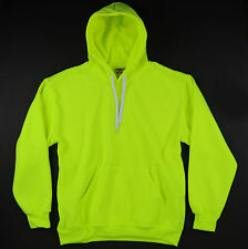 Hill Sports High Visibility Neon Green Plain Pullover Hoodie Safety Hoody BABA