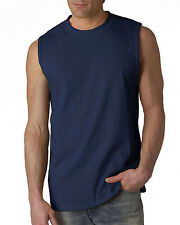 GILDAN Mens TANK Size S-2XL Ultra Cotton Sleeveless Muscle Sports T-Shirt 2700