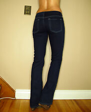 $189 Seven 7 For All Mankind A-Pocket Flare Mid-Rise Jeans Dark Indigo Long 23