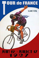 Tour de France 1927 Bicycle Bike Cycle Race French Vintage Poster Repro FREE S/H