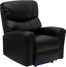 Flash Automatic Recliner  Chair with Refrigerated Cup Holder and Lighted Base