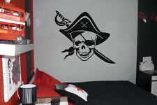 SKULL PIRATE Vinyl Wall / Car Decal Sticker, Highest Quality,  BIG or SMALL