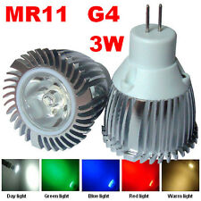 MR11 LED 3W G4 base bulb spotlight day light warm red green blue light AC/DC 12V