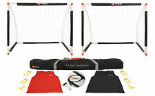 New 5 A Side Football Set Quality Garden Football Equipment Set Goals Bibs Ball