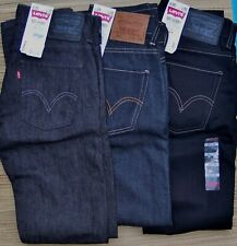 LEVI'S 511 MENS EXTRA SKINNY LOW STRAIGHT MID-RISE DARK DENIM JEANS LIST $58