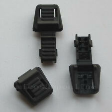 12 25 50 100 zipper pulls black plastic cord lock ends zip for Buckle Webbing CH