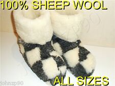 MEN WOOL RUSSIAN VALENKI SHEEPSKIN SLIPPERS BOOTS 100% NEW
